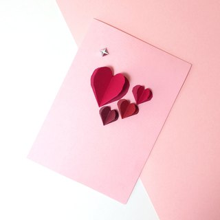 3D Origami Diamond Heart Valentine's Day Card
