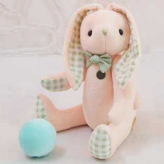 Rabbit Xi Niu rabbit tender peach 24cm custom color and embroidered word finished