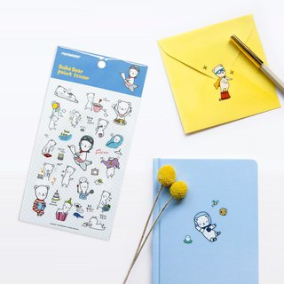 Ponybrown Buha Bear Transparent Sticker Blue - FLY, PNB87125