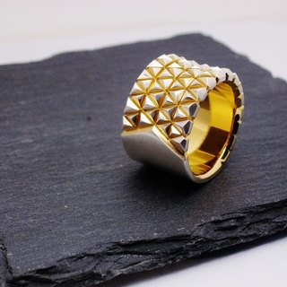tanto triangolo ring / Tanto Triangolo Silver Gold Coating Ring