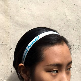 Volleyball x hair hoop / fine version / sand row white section number 006