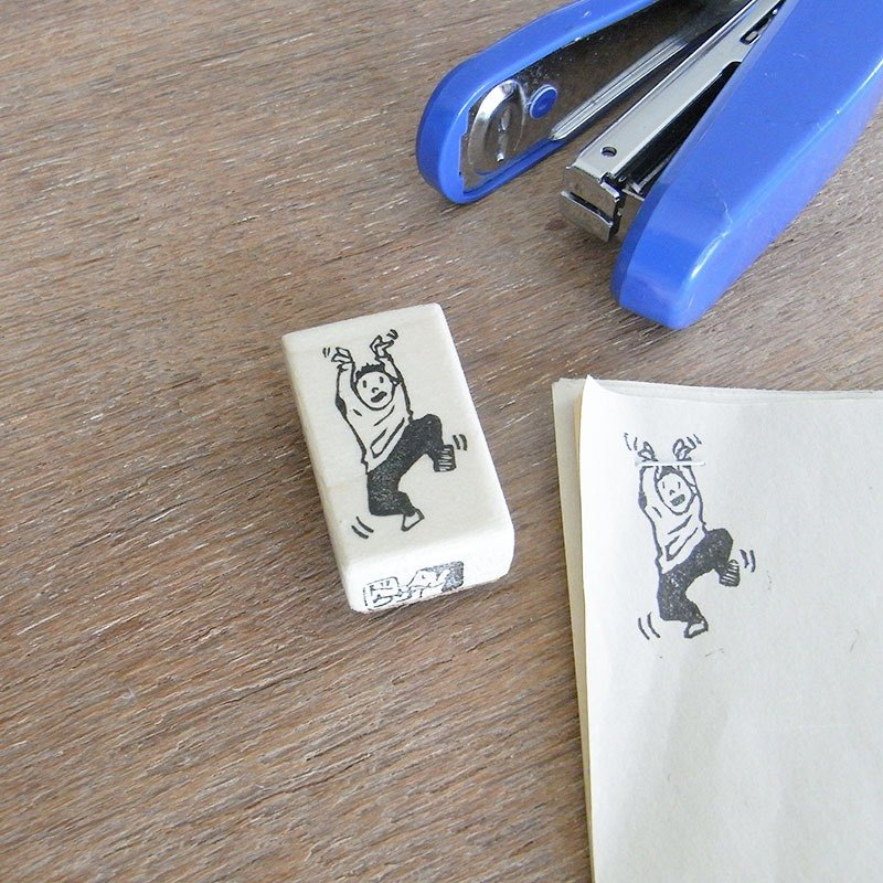 "Handmade rubber stamp for stapler ""Wriggle"""