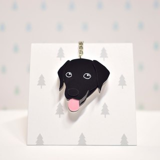 Labrador Retriever (Black) - Key Ring Acrylic