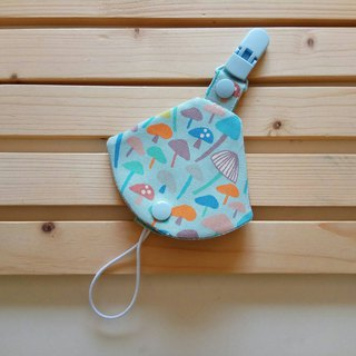 Blue many mushroom mushroom two in one pacifier clip < pacifier dust bag + pacifier clip> dual function 1 into