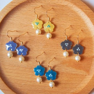 Hand-painted series spring garden earrings