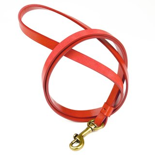 Alto Leather Neck Strap - Coral Red [Without customized text Lei carving]
