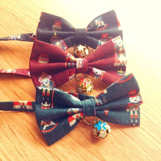 Nutcracker cat mini dog small dog bow decorative collar