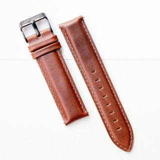 【PICONO】Quick release brown leather strap-Black