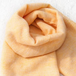 Wool shawl/knit scarf/knit shawl/covering/pure wool scarf/wool shawl-mango milk