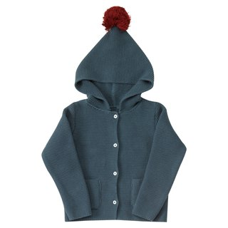 100% organic cotton dark blue knit hat T