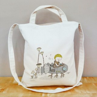 Happy in the details of life straight canvas bag