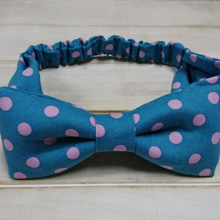 Great little blue three-dimensional bow hair band