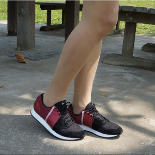 VPEP retro jogging shoes / V-Classic / black - red - light pink / simple casual, classic fashion, breathable soft, VR06-09