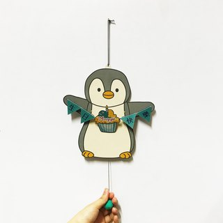 Penguin, Birthday paper puppet card