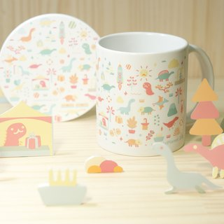 [Lonely Planet 2.0] ceramic cup group - dinosaur to go to market (white)