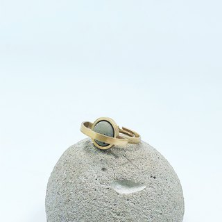 Brass Cement Ring Agaric Garden x C3CraftStudio Moon Tour