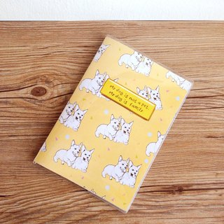 """My dog is not a pet, my dog is family"" notebook/ diary"