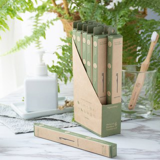 [Good day agooday] Environmentally friendly bamboo toothbrush - adult bamboo toothbrush (renewable environmentally friendly nylon) 12 into