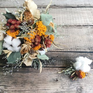 Good flower cotton warm bride bridal bouquet dry bouquet wedding bouquet outside the flowers with a corsage
