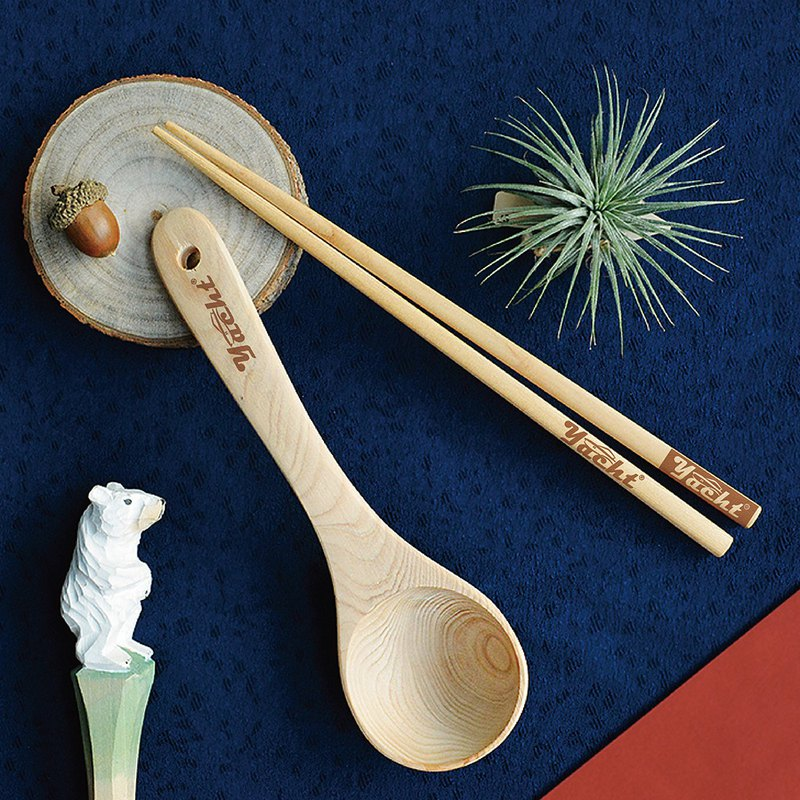 Taiwan Maple Chopsticks • Table Spoon Combination