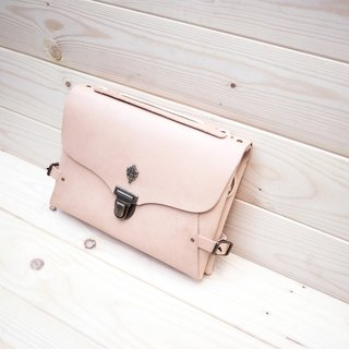 Two Face Clutch - Bicycle Clutch - Bike Bag - Beige