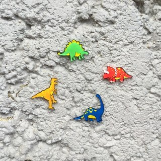 ✦Pista hill hand-painted earrings ✦ Animals - Jurassic Dinosaur Collection
