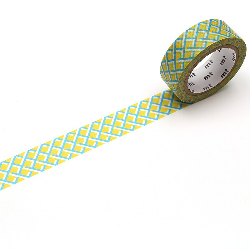 mt Deco Masking Tape / Mesh Yellow (MT01D480)