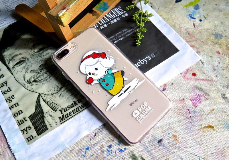 iPhone 7p/8p Flying Mouse 雪白公主 卡通軟膠透明手機殼 手機套