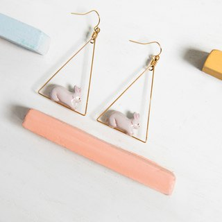 Little Rabbit Triangle Earring