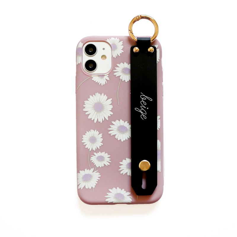 Pink Purple Cosmos Hand Strap Phone Case