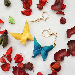 Origami Series - Mopless Butterfly Charm Key Ring - Multicolor