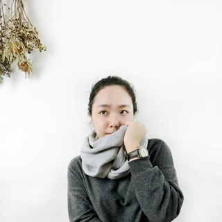【Gray Texture】 Scarf Scarlet Exchange Gift