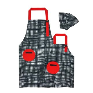 OGG geometric fun color matching parent-child work apron fight lattice