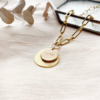 Courage- Brass necklace