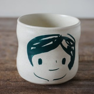 Brut Cake Handmade pottery - smiling mug (not to) 260ml-22