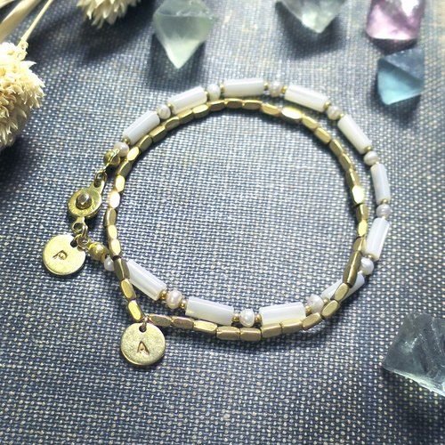 ♦ ViiArt ♦ 1 + 1 period limit - optional bracelet / bracelet one yuan add brass knock word small plate