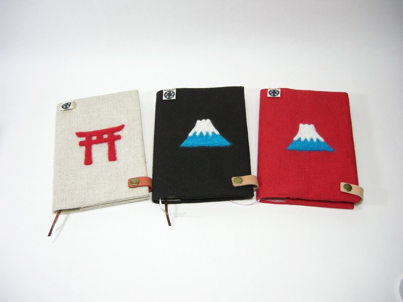 Wool felt notebook (cotton linen) __made as zuo zuo hand made wool felt notebook gift