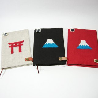 Meng Meng Fuji Yamagata cloth black __made as zuo zuo hand made wool felt notebook