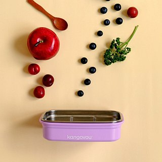 [Eco-friendly tableware] US kangovou stainless steel safety lunch box - lilac