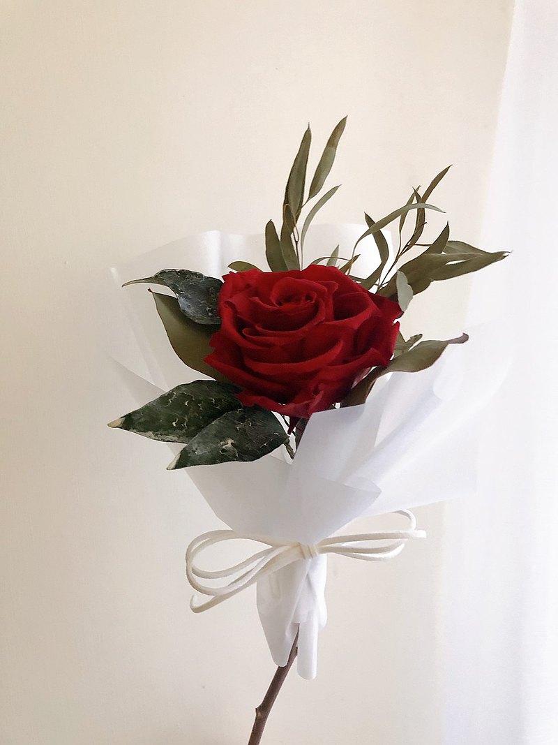 永生花 永生玫瑰 乾燥花 花束 畢業禮物 交換禮物 情人禮物 母親