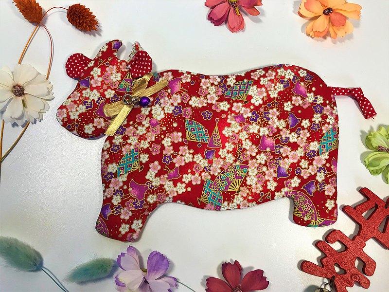 Fantasy【燙金棉布】牛轉乾坤紅包袋~梅花和風