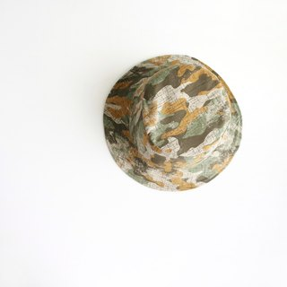 Neutral map handmade double-sided hat fisherman hat