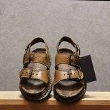 Tsubasa.Y 古著屋 咖啡色002馬汀涼鞋, Dr.Martens England