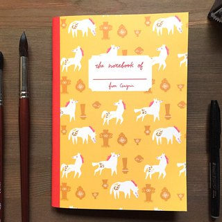 Horse and porcelain notebook A5 checkered notebook