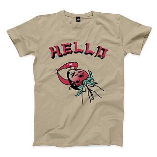 Eating strawberries - khaki - Unisex T-Shirt