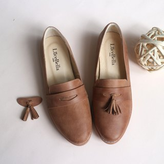 【 seal youth】two way tassel Loafers _ brown