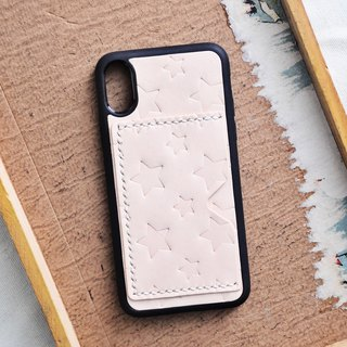 Leather star-shaped mobile phone case kit iPhoneX iPhone8 Plus DIY free engraving