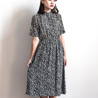 Vintage colorful vintage vintage short sleeve dress