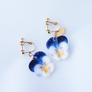 Pansy-S earrings
