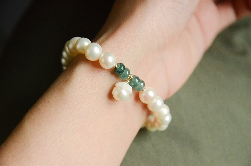 【Pearls】natural bright freshwater pearl fresh and elegant bracelet bracelet